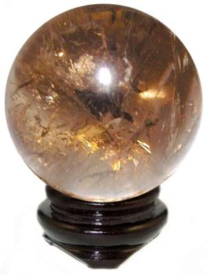 Smokey Quartz Sphere - Stress, Anxiety, Depression and Emotions - Crystal Healing - Gift Idea