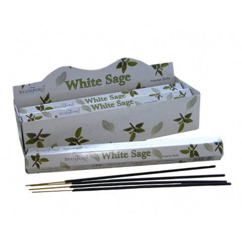 California White Sage Incense Sticks 20 - Smudging - Cleansing - Protection - Stamford