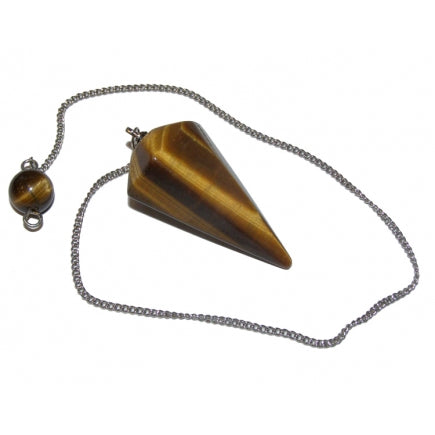 Tiger Eye Faceted Pendulum - Balance • Willpower • Courage • Clear Thinking