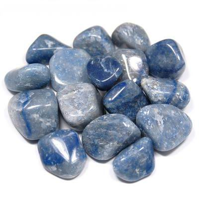 Blue Quartz Tumbled Stone - Connection, Clarity and Diplomacy