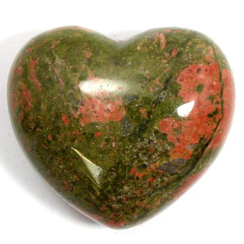 Unakite Crystal Heart 30mm - Balance, Release and Detoxification - Crystal Healing