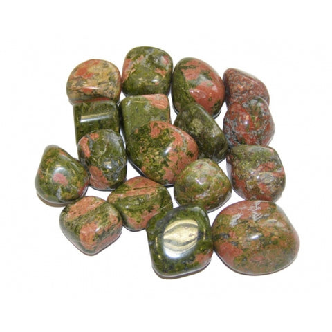 Unakite (Medium) Tumbled Stone - Balance, Release and Detoxification - Crystal Healing