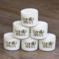 Vanilla Mozi Soy Spa Cup Candle - Pack 6