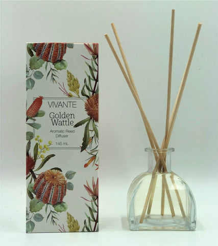 VIVANTE Australiana Golden Wattle Aromatherapy Reed Diffuser 145ml  - The Holistic Shop in Wagga Wagga