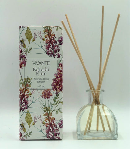 VIVANTE Australiana Kakadu Plum Aromatherapy Reed Diffuser 145ml  - The Holistic Shop in Wagga Wagga