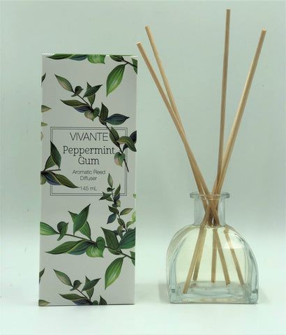 VIVANTE Australiana Peppermint Gum Aromatherapy Reed Diffuser 145ml - The Holistic Shop in Wagga Wagga