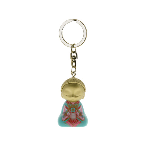 Little Buddha Figurine Keychain - Key Ring - What You Think - Gift Idea