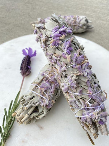Sage Smudge Sticks with French Lavender (Medium) - Smudging - Cleansing - Protection - Sage Spirit