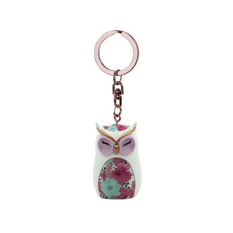 HOPE - Owl Figurine Keychain 45mm - Wise Wings - Mother's Day Gift idea