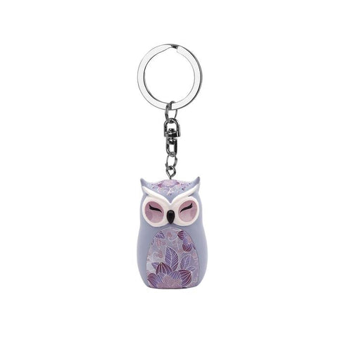 KNOWLEDGE - Owl Figurine Keychain 45mm - Wise Wings - Gift idea