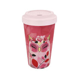 WISDOM - Owl ECO Friendly Bamboo Travel Coffee Drinking Mug - Wise Wings - Gift idea