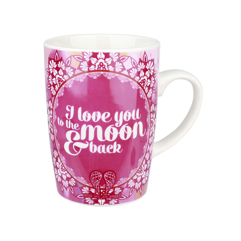 You are and Angel - I Love you to the Moon and Back - Bone China Mug - Gift Idea