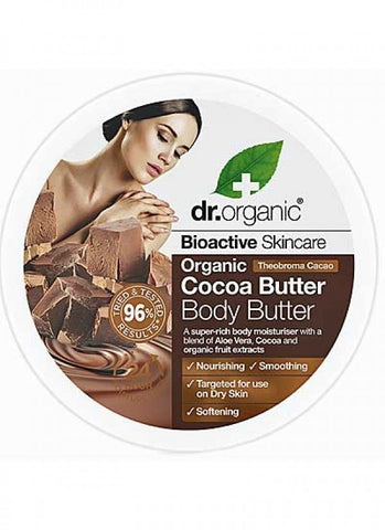 Dr Organic Cocoa Butter Body Butter - 200ml