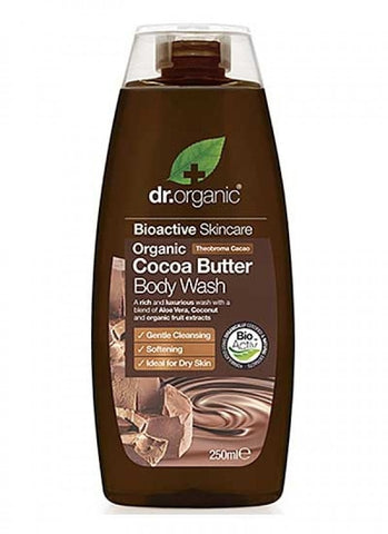 Dr Organic Cocoa Butter Creamy Body Wash - 250ml