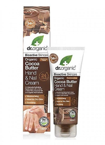 Dr Organic Cocoa Butter Hand and Nail Cream 100ml