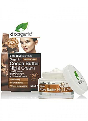 Dr Organic Cocoa Butter Night Cream - 50ml