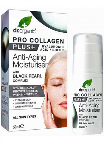 Dr Organic Pro Collagen Plus Black Pearl - 50ml - all skin types