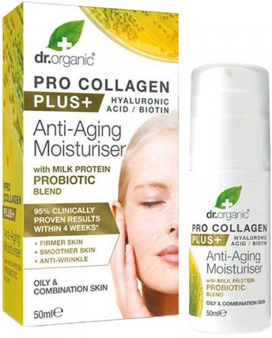 Dr Organic Pro Collagen Plus Probiotics - 50ml - Oily and Combination Skin