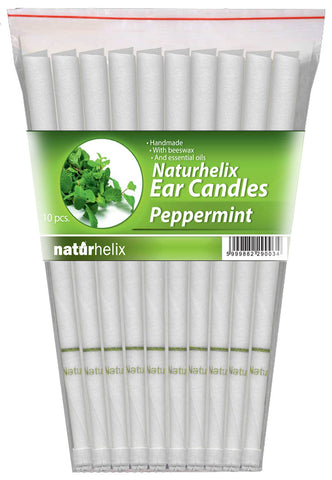 Ear Candles (Aromatherapy) Peppermint Essential Oil - 5 Pairs - Breathing Difficulties - Organic - Naturhelix Australia - October Special Offer