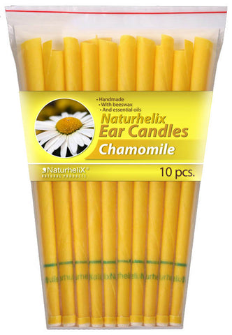 Ear Candles (Aromatherapy) Chamomile Essential Oil - 5 Pairs - Sleep and Digestion - Organic - Naturhelix Australia