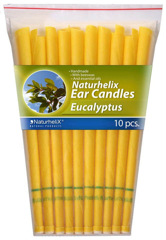 Ear Candles (Aromatherapy) Eucalyptus Essential Oil - 5 Pairs - Colds and Flu - Organic - Naturhelix Australia - October Special Offer