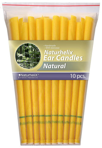 Ear Candles Natural - Pack of 10 - 5 Pairs - Naturhelix - October Special Offer