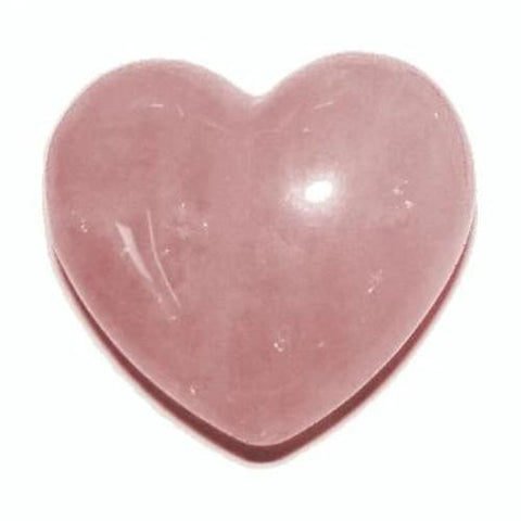 Rose Quartz Heart 40mm - Love,  Friendship and Partnership - Crystal Healing - Valentine's Day Gift Idea