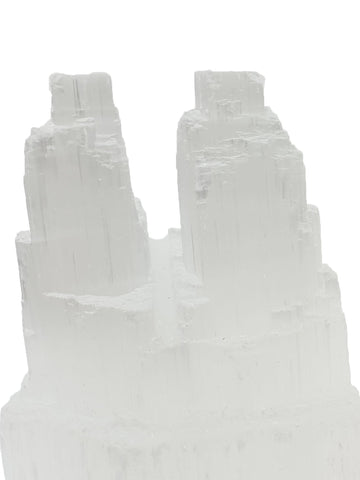 Selenite Twin Tower 10mm - Intuition, Healing, Power and Protection - Crystal Healing