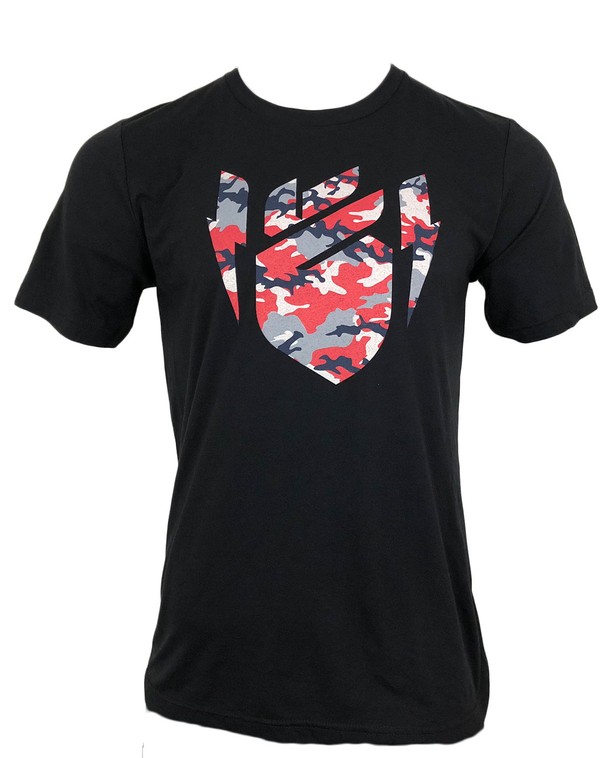 Black/Red Camo Heart