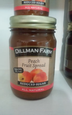Dillman Farm Peach Fruit Spread (reduced sugar)