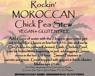 Rockn Moroccan Chick Pea Stew kit
