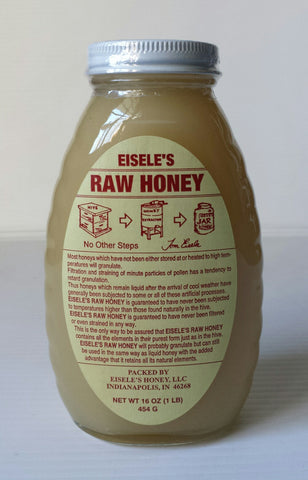 ALL NATURAL EISELES RAW HONEY 16 OZ JAR