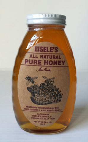 ALL NATURAL EISELES PURE HONEY 16 OZ JAR
