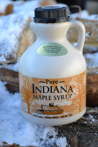 100% Pure Indiana Maple Syrup Grade A Dark  16oz