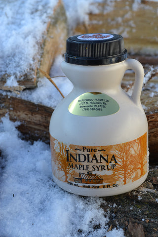 100% Pure Indiana Maple Syrup Grade A Dark  8oz