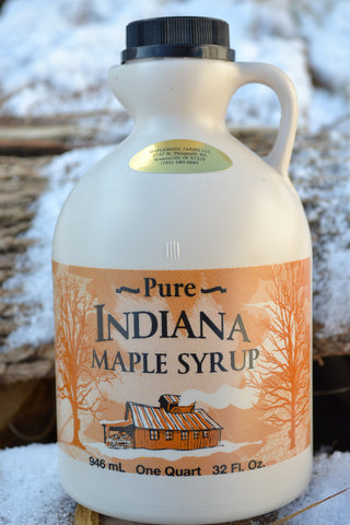 100% Pure Indiana Maple Syrup Grade A Very Dark , Strong Taste 32oz