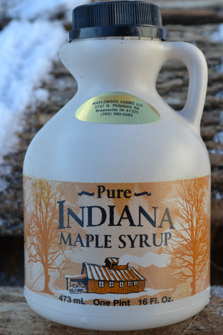 100% Pure Indiana Maple Syrup Grade A Very Dark , Strong Taste 16oz