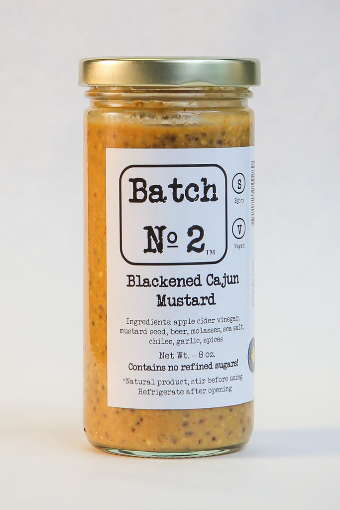 Batch No. 2 - Blackened Cajun Mustard - (8 oz)