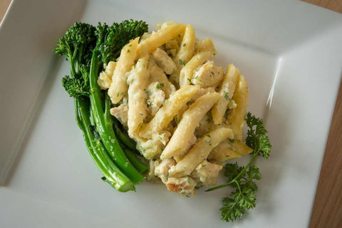 Just Add Meat Meal Kit (2 Servings): Chicken Alfredo Bake with Broccolini