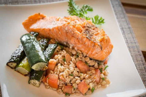 Just Add Meat Meal Kit (2 Servings): Grilled Salmon Fillets with Roasted Cucumber