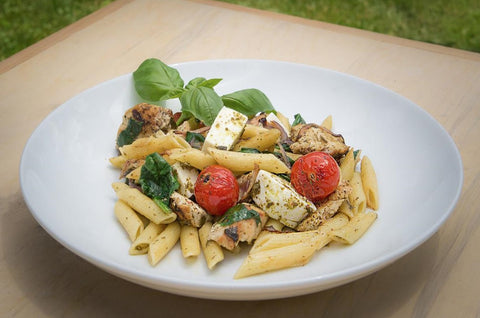 Just Add Meat Meal Kit (2 Servings): Caprese Chicken Pasta Bowl with Fresh Mozzarella
