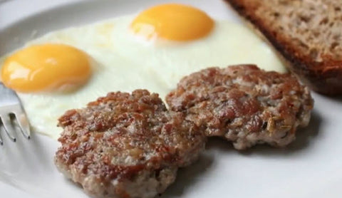 Sugar Free! Breakfast Sausage- Seasoned with Salt, Pepper and Sage