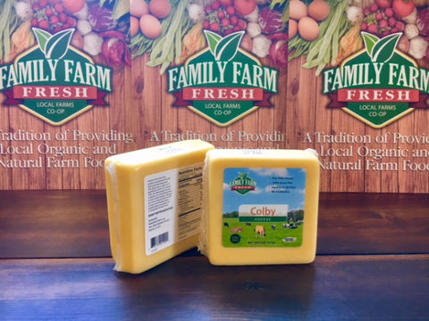100% Grass Fed Raw Milk Cheese 10 oz block Colby