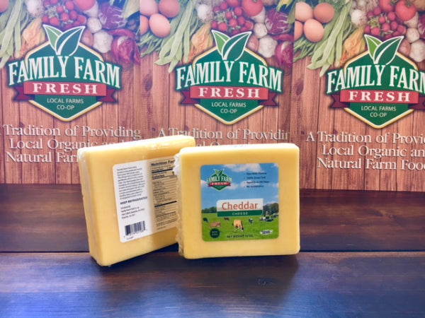 100% Grass Fed Raw Milk Cheese 10 oz block Cheddar