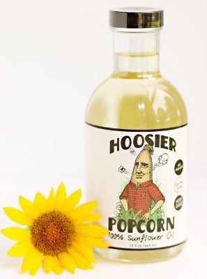 15oz Hoosier Popcorn - 100% Sunflower Oil