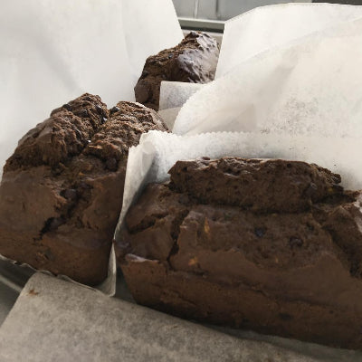 Gluten Free and Vegan Chocolate Pumpkin Bread with Cocoa Nibbs