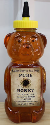 24 oz HONEY BEAR WITH LOCAL INDIANA HONEY