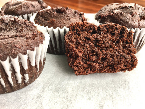 Chocolate Muffins - 4 Pieces, Grain Free, sweetened with dates, Plant Based, Gluten free, Sugar Free, Soy free
