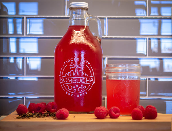 32oz Growler Exchange - Raspberry Hibiscus (Seasonal) Kombucha
