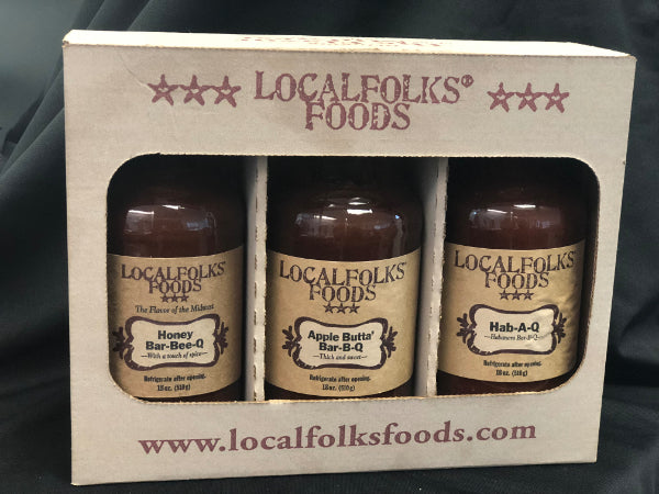3- Pack BBQ Sauce Gift Box Set - LocalFolks Foods